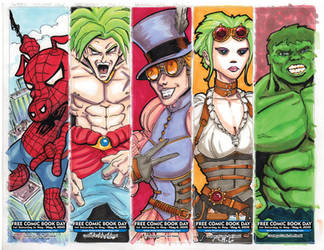FCBD 2019 bookmarks3 by artildawn