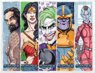 FCBD 2019 bookmarks4 by artildawn