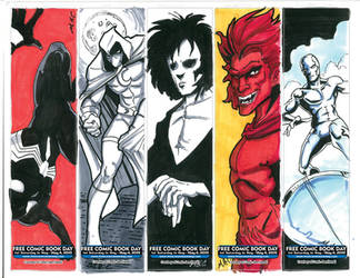FCBD 2019 bookmarks2 by artildawn