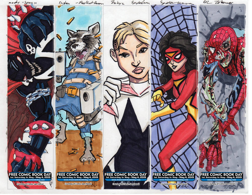 FCBD 2019 bookmarks 5 by artildawn