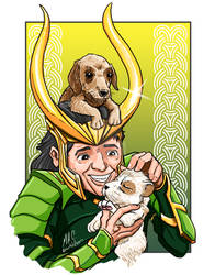 Loki is a dog person