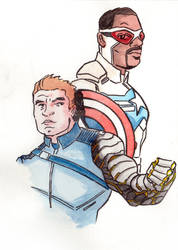 5x7 Capt And Winter Soldier