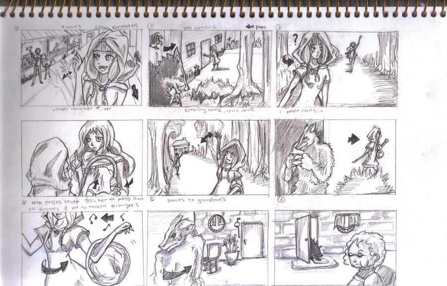 Little Red Riding Hood Storyboard  By Sanzoukyou On Deviantart