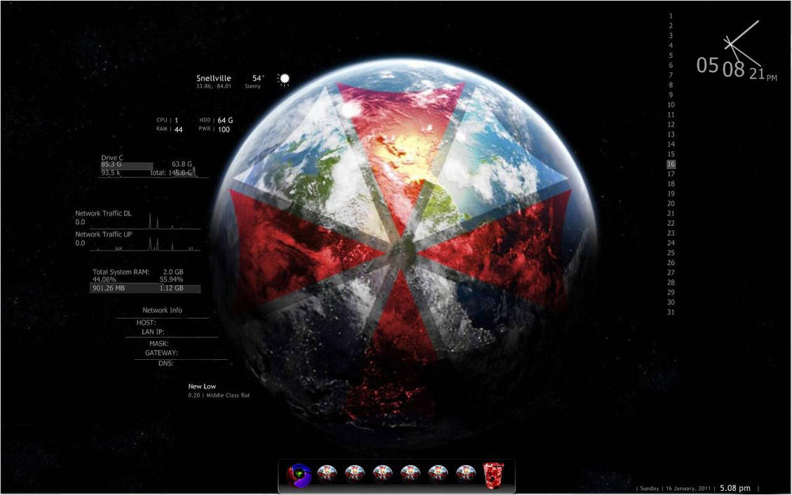 6 More Windows 7 Themes: Tech, Vaio, Umbrella Corp, Sin City