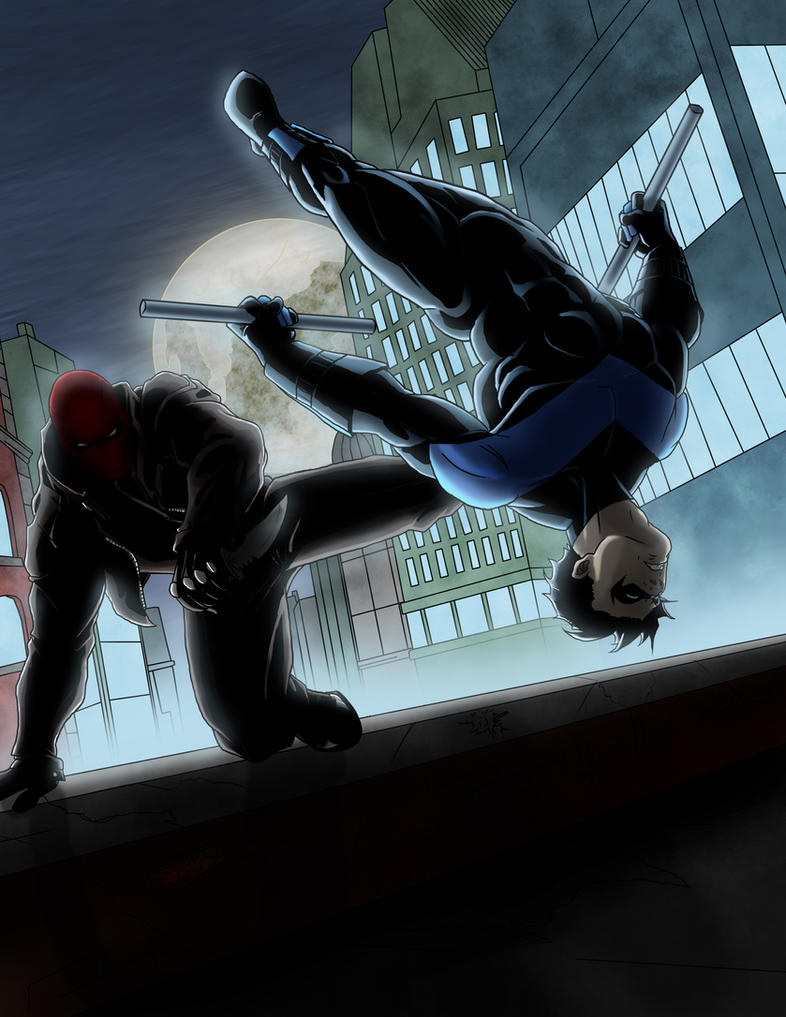 Red Hood vs Nightwing by jwientjes