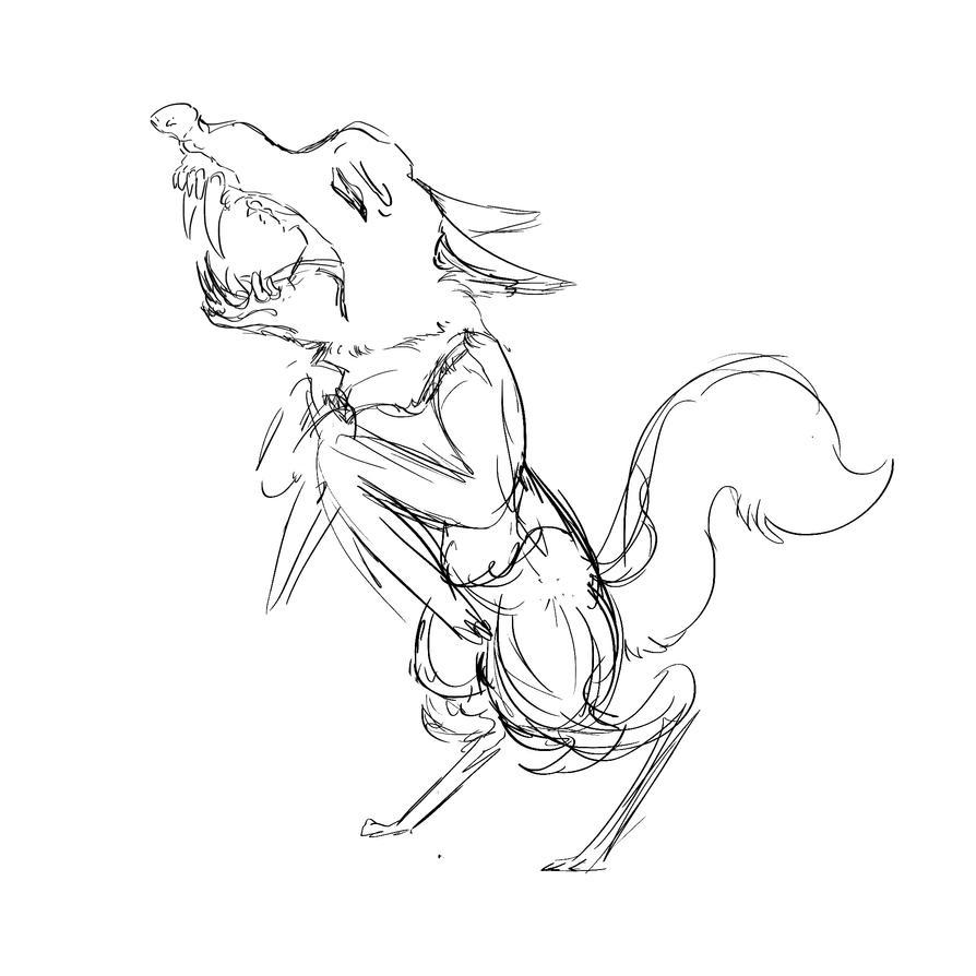 Nervous Werewolf by blo-deewedd