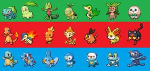 All Starter Pokemon (Gen 1-7)