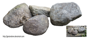 Stone by gestandene