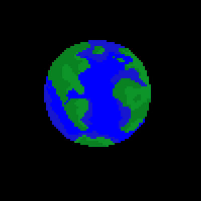 The Earth Pixel Art By Probablyatroll On Deviantart