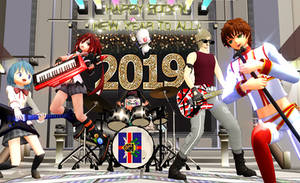 [MMD] Happy Rock'N'New Year 2019!!