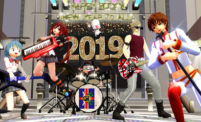 [MMD] Happy Rock'N'New Year 2019!! by djlordsuzaku2