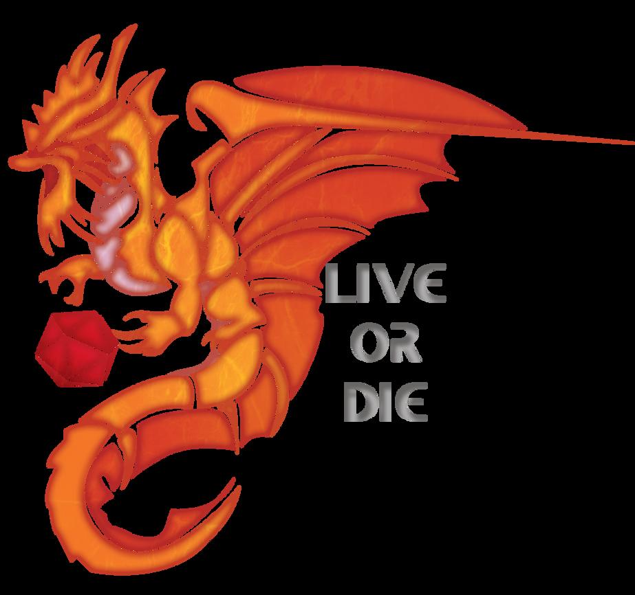 Live or Die - - Gold Dragon by Katlyon