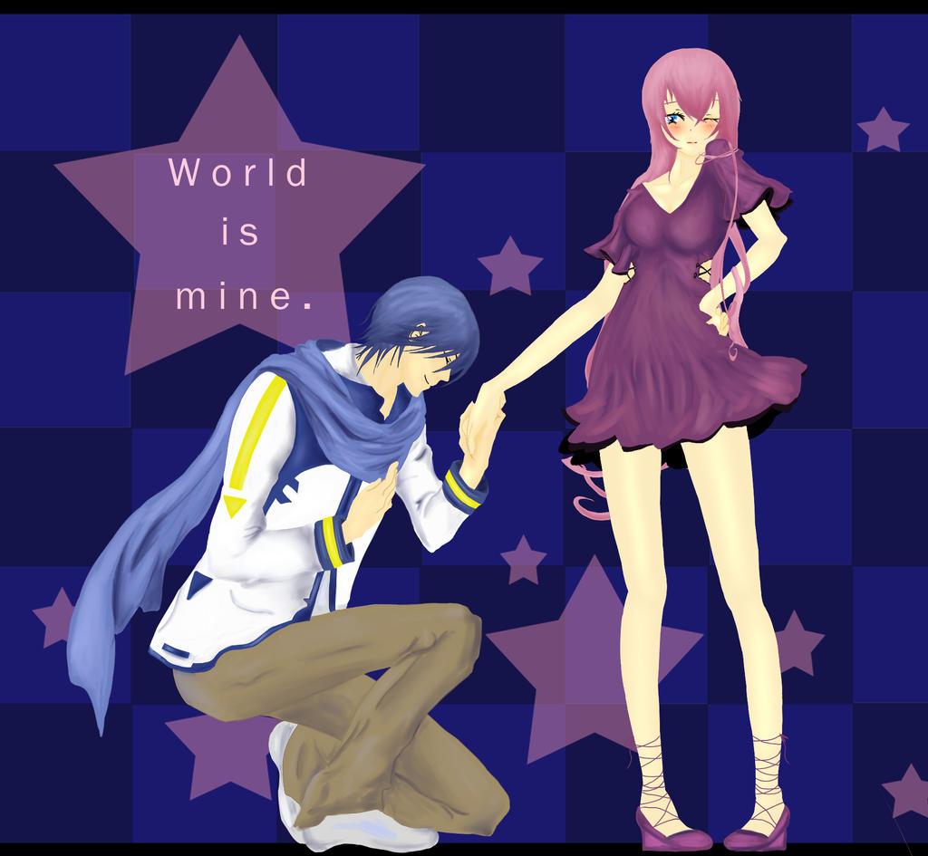 World is mine Luka Kaito by krazie4anime