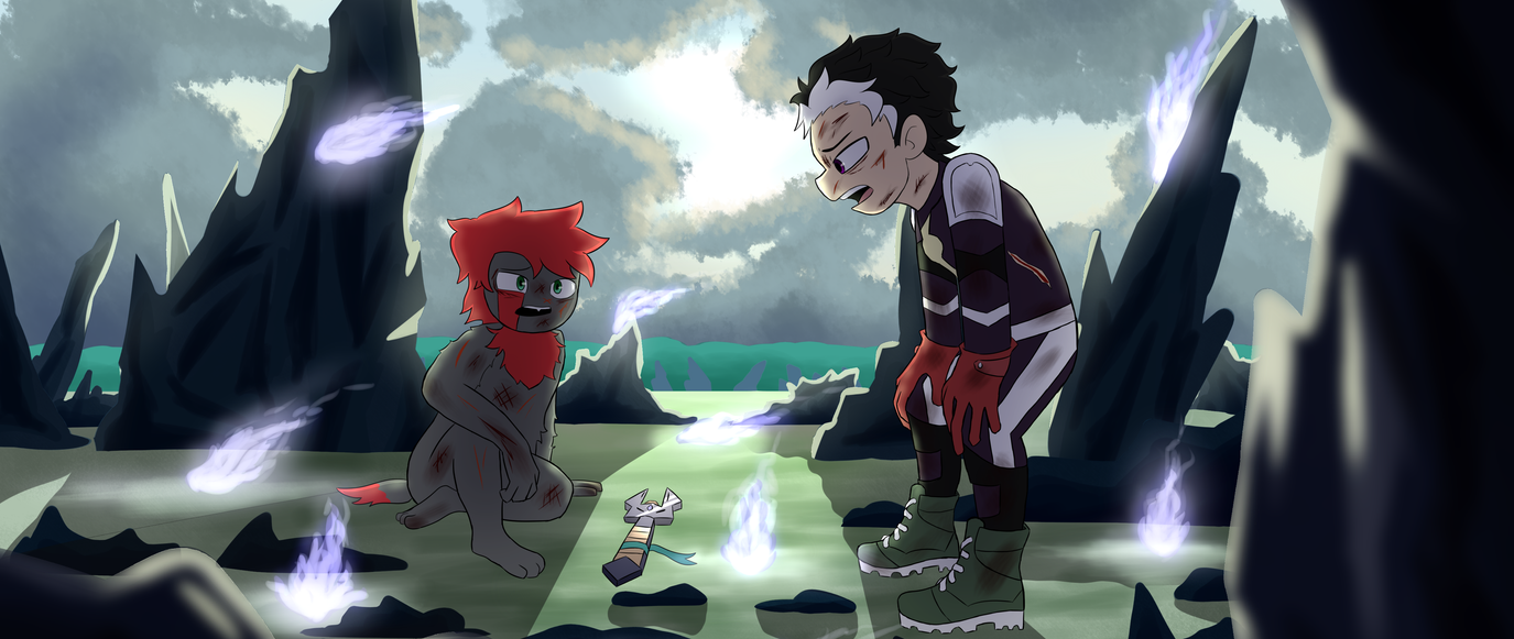 Troy and Drew After A Battle by GabisMe