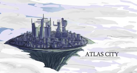 Atlas City Sketch by GabisMe