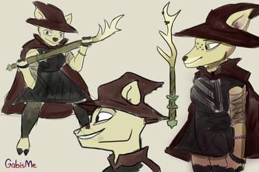 Amita The Deer Sketch by GabisMe