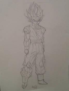 SSJ2 Goku Sketch
