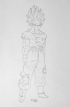 SSJ2 Goku lineart