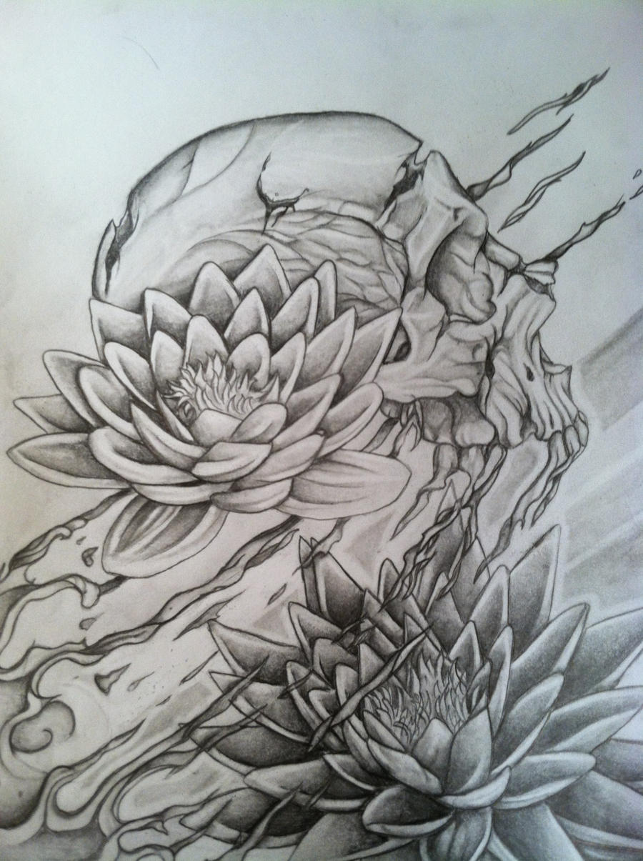 Half Lotus Tattoo
