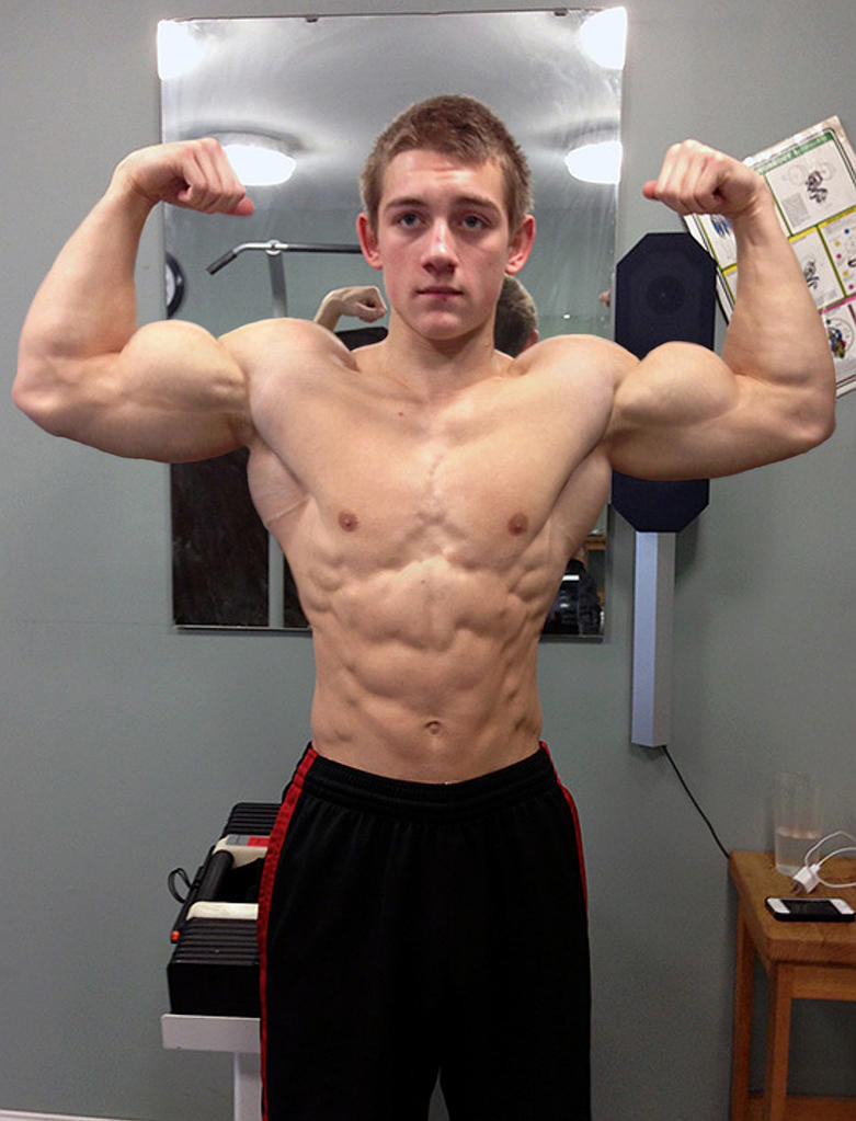 Teen Muscle Flexing 109