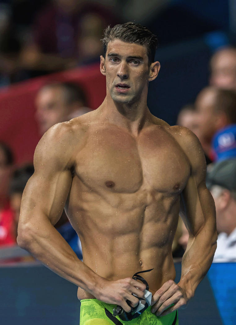 michael phelps looking like a statue