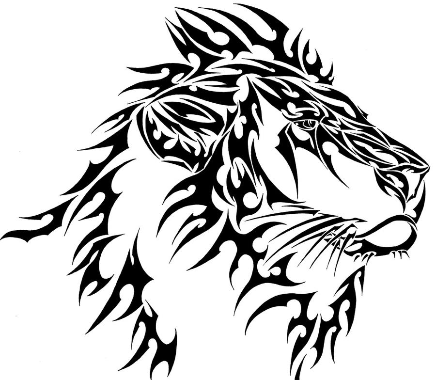 Tribal Lion by L4TIN-G3CKO on DeviantArt