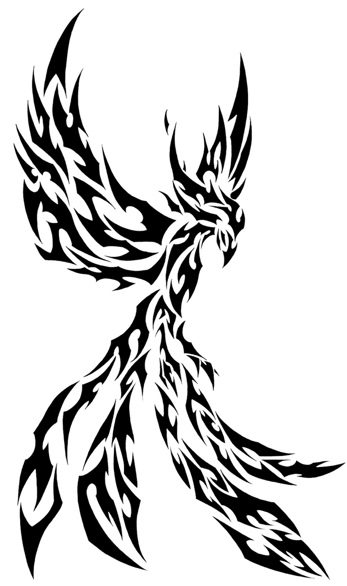 tribal phoenix by l4tin g3cko on deviantart. Black Bedroom Furniture Sets. Home Design Ideas