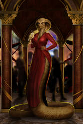 Frieda's Rebirth: Woman in Red, by Arcan-Anzas by Alzip22