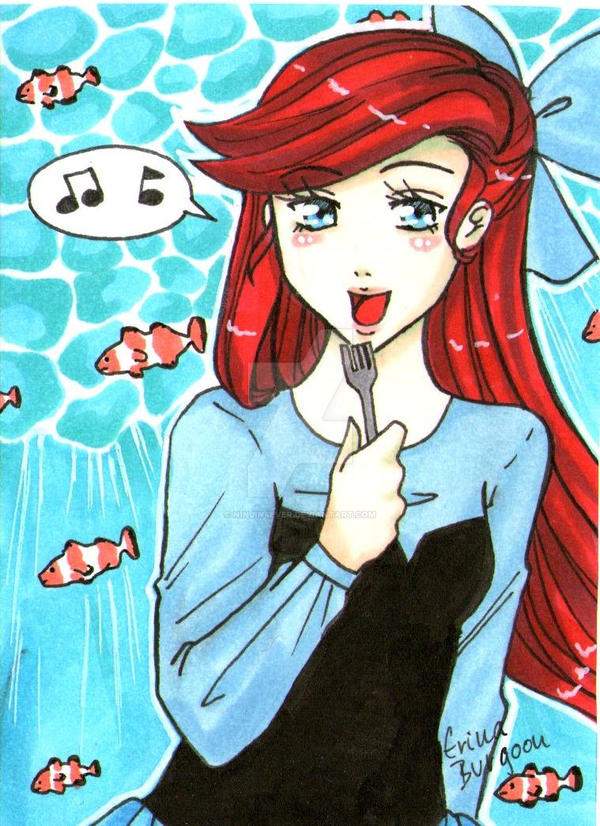 Ariel ACEO-Card #013 by ninjin4ever