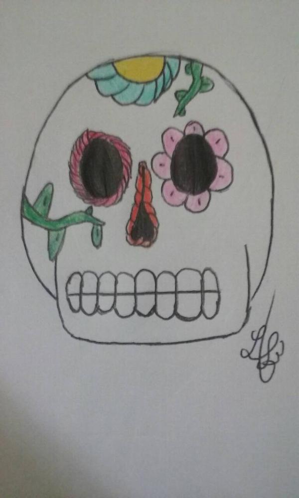 Simple Sugar skull by turtleopp