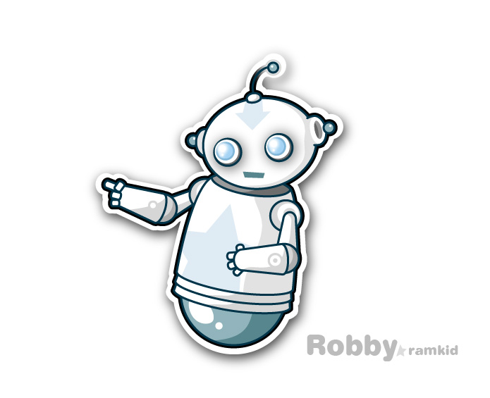 Robby - the robot character - by cybernation