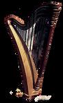 Stock Objekt Harfe