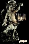 Stock objekt angel statues
