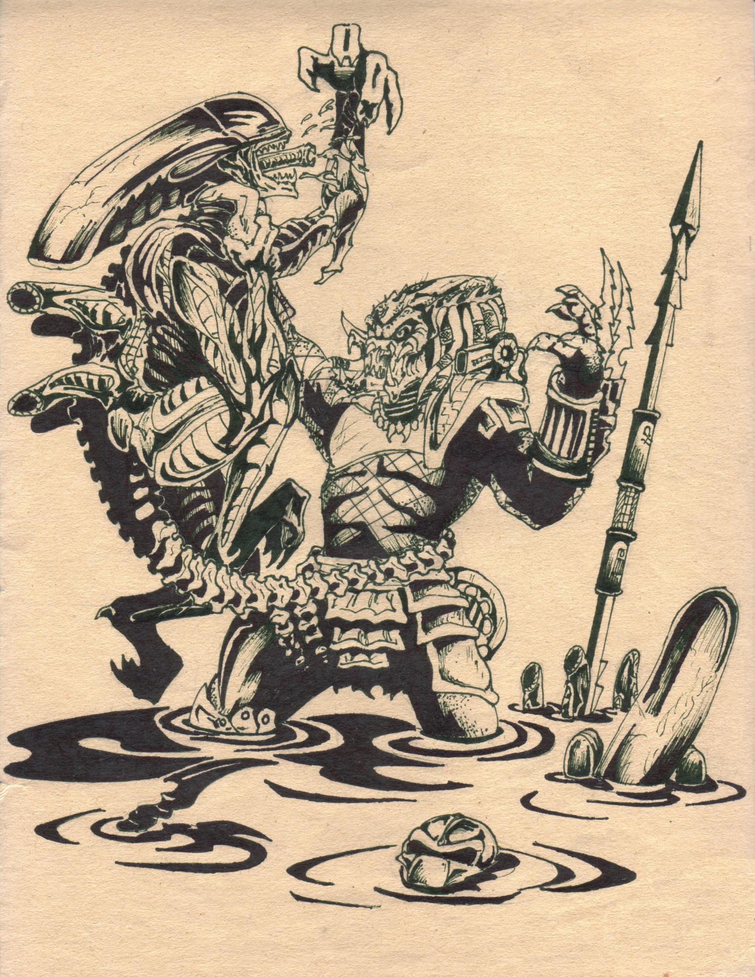 aliens vs predator drawings - photo #37