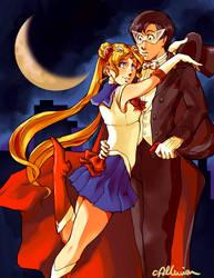 Sailor Moon x Tuxedo Kamen WIP by crystalAlluvion