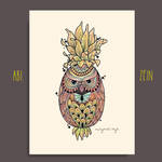 Pineapple and Owl