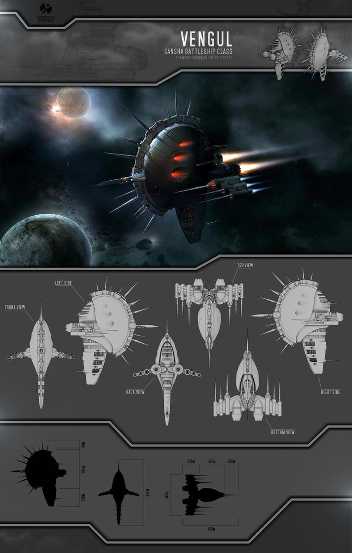 """Vengul"" Sansha Battleship by Plumsbuggy"