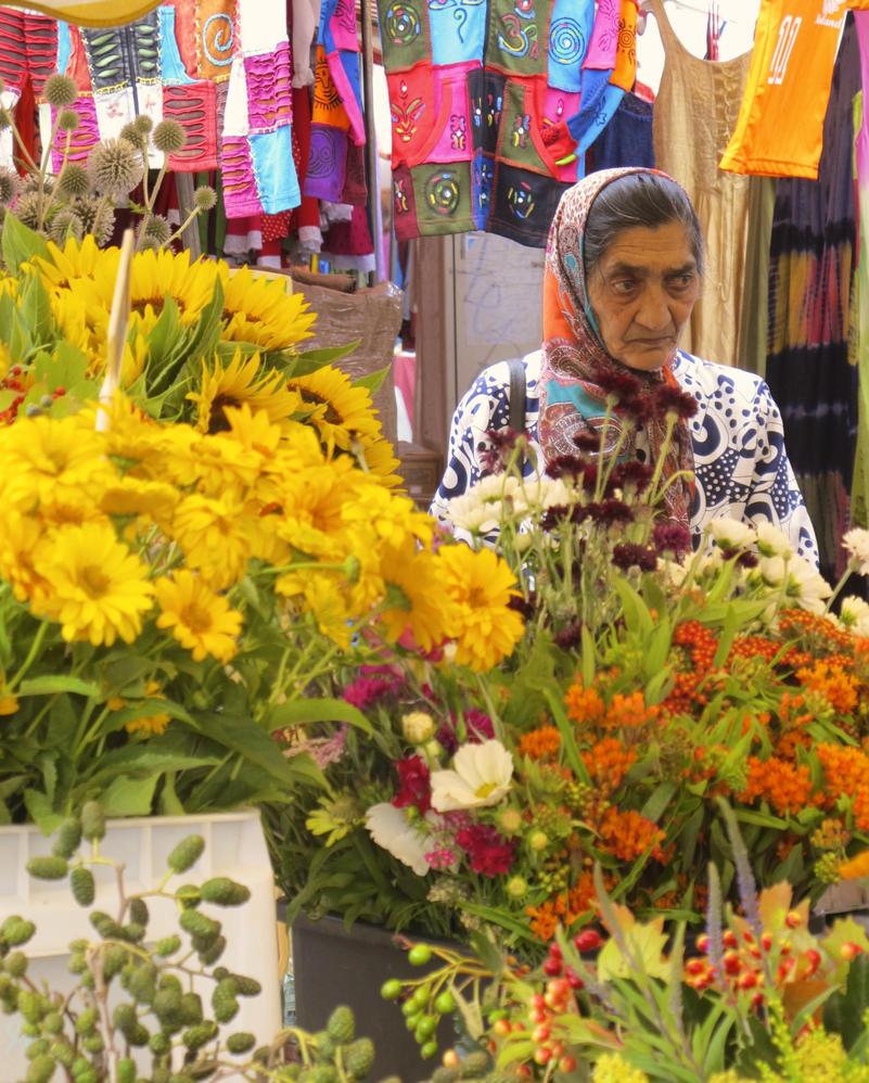 Woman at Naschmarkt-Vienna by jonifan1