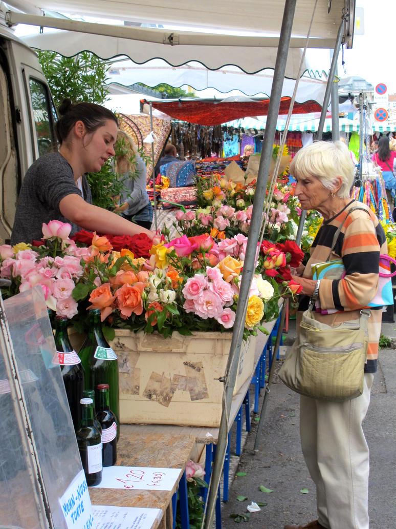 Flower Stall at Naschmarkt, Vienna by jonifan1