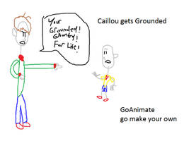 Caillou gets Grounded artwork