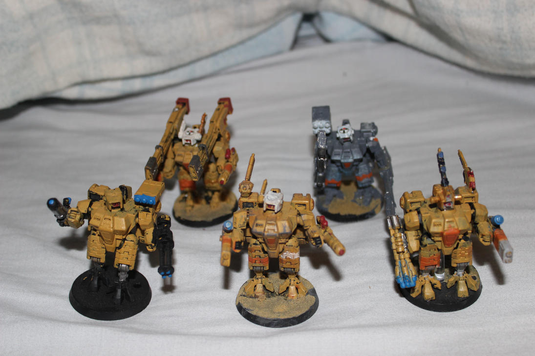 battlesuit platoon by adamphillip