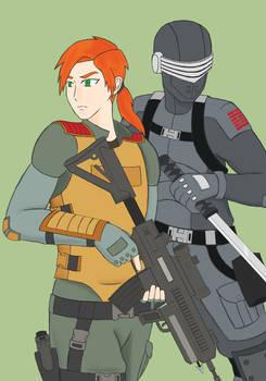 Scarlett and Snake-Eyes