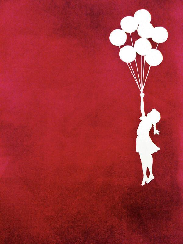 banksy 39 s balloon girl 1 by fruitnats on deviantart. Black Bedroom Furniture Sets. Home Design Ideas