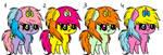 mlp chibi adoptables 1-4 by DestinyFangsmh