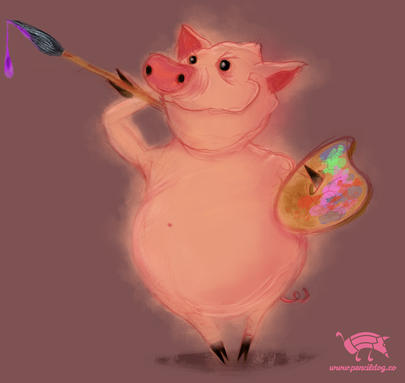 Painter pig by jmsf-co