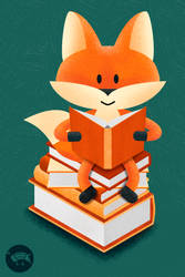 Book lover fox