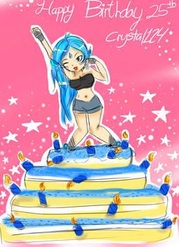 Happy Birthday 25th Crystal!