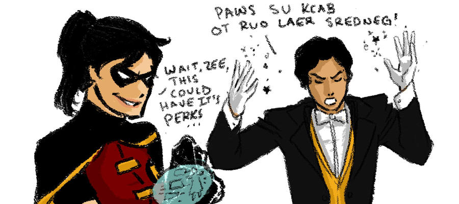 Nightwing And Zatanna Young Justice