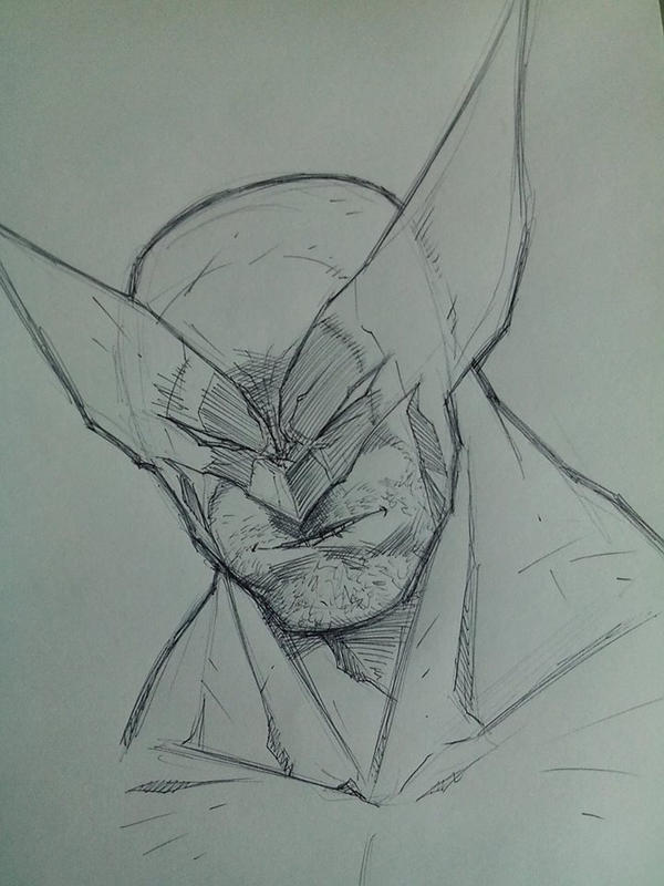Wolverine warm up sketch by DamageArts