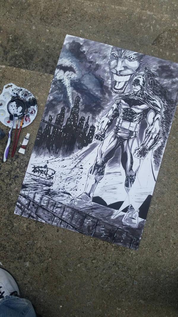 Batman The Dark Knight by DamageArts